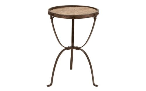 Deco 79 Metal Wood Side Table 27 By 18 Inch 0