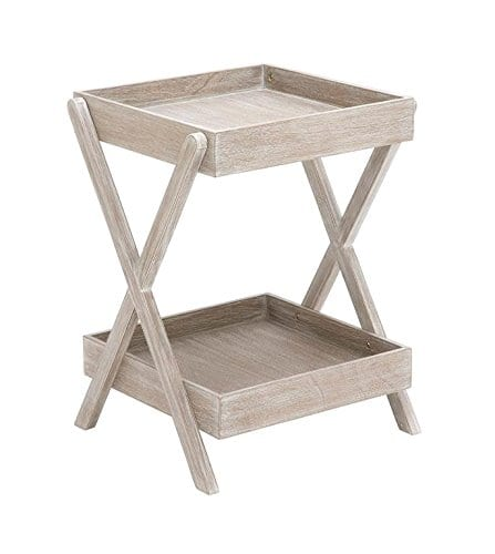 Deco 79 Wood Accent Table Tray Taupe 20 By 26 Inch 0