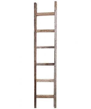 Decorative Ladder Reclaimed Old Wooden Ladder 6 Foot Rustic Barn Wood 0 300x360