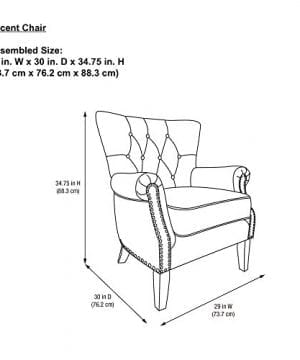 Dorel Living Accent Chair Beige 0 2 300x360