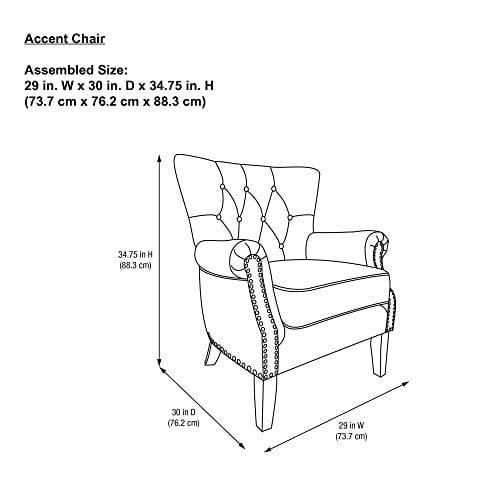 Dorel Living Accent Chair Beige 0 2