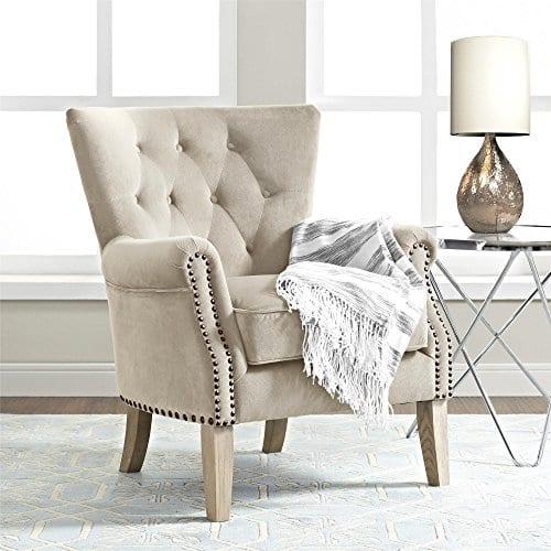 Dorel Living Accent Chair Beige 0 4