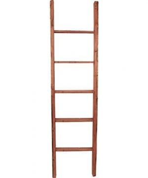 Ekena Millwork DECR019X072X04LDRRD Decorative Ladder 19 W X 72 H X 3 12 D Salvage Red 0 0 300x360