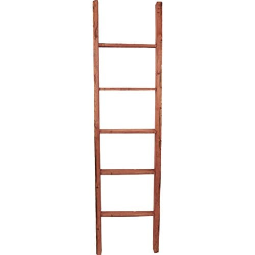 Ekena Millwork DECR019X072X04LDRRD Decorative Ladder 19 W X 72 H X 3 12 D Salvage Red 0 0