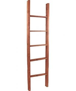 Ekena Millwork DECR019X072X04LDRRD Decorative Ladder 19 W X 72 H X 3 12 D Salvage Red 0 300x360