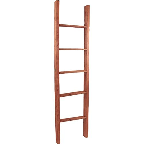 Ekena Millwork DECR019X072X04LDRRD Decorative Ladder 19 W X 72 H X 3 12 D Salvage Red 0