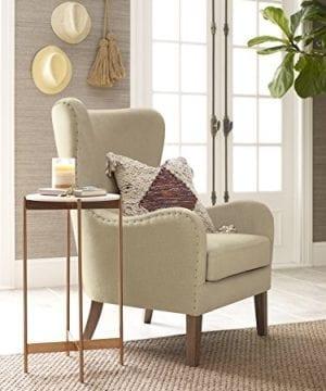 Elle Decor UPH100085C Modern Farmhouse Accent Chair Two Toned Tan 0 0 300x360