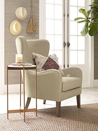 Elle Decor UPH100085C Modern Farmhouse Accent Chair Two Toned Tan 0 0