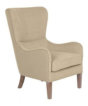 Elle Decor UPH100085C Modern Farmhouse Accent Chair Two Toned Tan 0 1 300x360