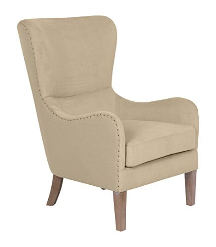 Elle Decor UPH100085C Modern Farmhouse Accent Chair Two Toned Tan 0 1
