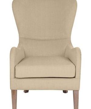 Elle Decor UPH100085C Modern Farmhouse Accent Chair Two Toned Tan 0 2 300x360
