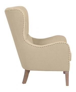 Elle Decor UPH100085C Modern Farmhouse Accent Chair Two Toned Tan 0 3 300x360