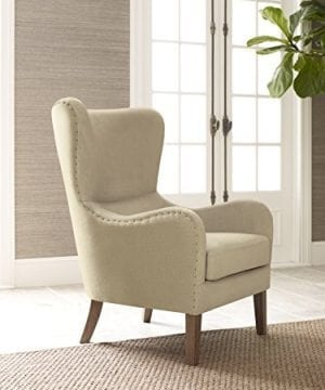 Elle Decor UPH100085C Modern Farmhouse Accent Chair Two Toned Tan 0 300x360