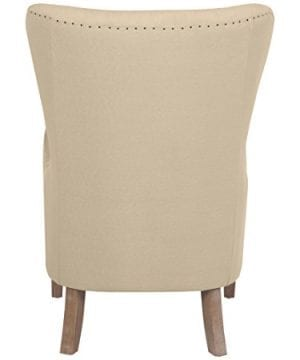 Elle Decor UPH100085C Modern Farmhouse Accent Chair Two Toned Tan 0 4 300x360