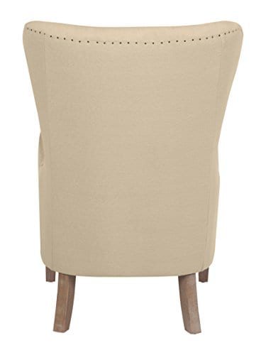 Elle Decor UPH100085C Modern Farmhouse Accent Chair Two Toned Tan 0 4