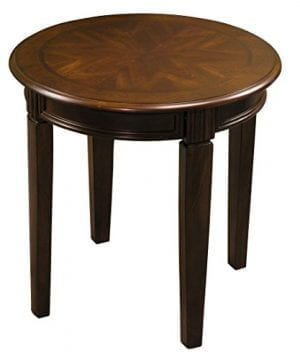 Fairview Game Rooms Round Accent Table In Chestnut Finish 0 300x360