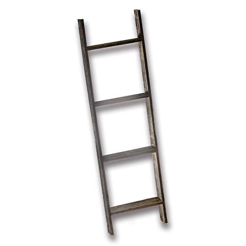 Farmhouse Style Ladder Made From Reclaimed Wood Decorative For Hanging Blankets Or As Shelving Walls Rustic 4 Foot