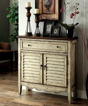 Furniture Of America Gladen Vintage Style Storage Cabinet Antique WhiteBrown 0 300x360