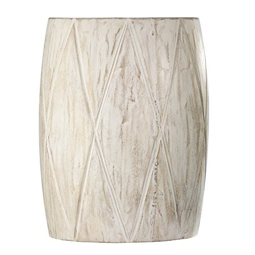 Groovy Holly Martin Saco Distressed White Drum Side Table Uwap Interior Chair Design Uwaporg