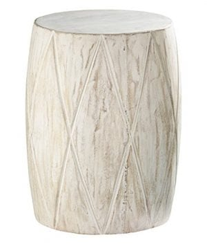 Holly Martin Saco Distressed White Drum Side Table 0 300x360