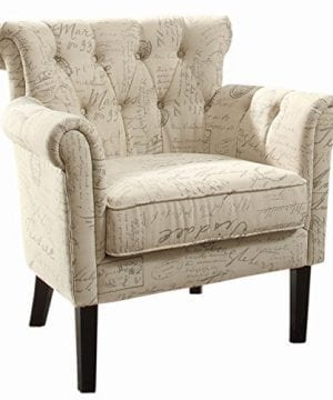Homelegance Barlowe Fabric Flared Accent Chair Vintage Print 0 300x360