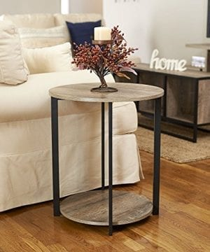 Household Essentials 8080 1 Wooden Side End Table With Storage Shelf Ashwood 0 2 300x360