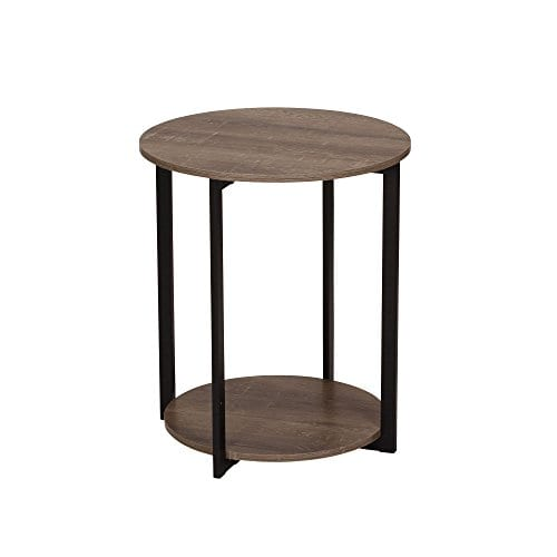 Household Essentials 8080 1 Wooden Side End Table With Storage Shelf Ashwood 0
