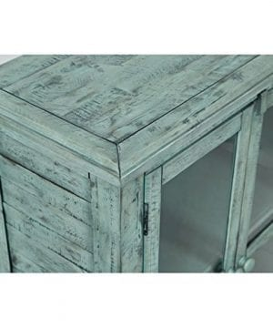 Jofran 1615 32 Rustic Shores Accent Cabinet 32W X 15D X 42H Vintage Blue Finish Set Of 1 0 0 300x360