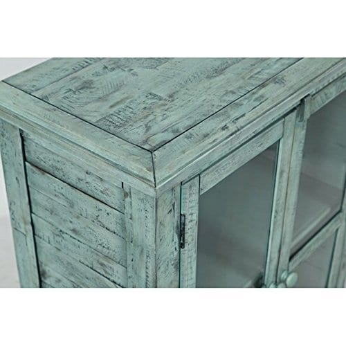 Jofran 1615 32 Rustic Shores Accent Cabinet 32W X 15D X 42H Vintage Blue Finish Set Of 1 0 0