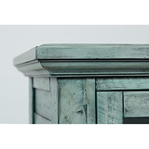 Jofran 1615 32 Rustic Shores Accent Cabinet 32W X 15D X 42H Vintage Blue Finish Set Of 1 0 1