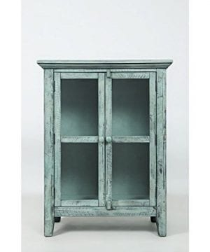Jofran 1615 32 Rustic Shores Accent Cabinet 32W X 15D X 42H Vintage Blue Finish Set Of 1 0 3 300x360