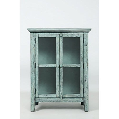 Jofran 1615 32 Rustic Shores Accent Cabinet 32W X 15D X 42H Vintage Blue Finish Set Of 1 0 3
