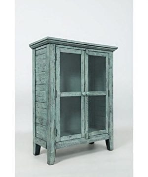 Jofran 1615 32 Rustic Shores Accent Cabinet 32W X 15D X 42H Vintage Blue Finish Set Of 1 0 300x360