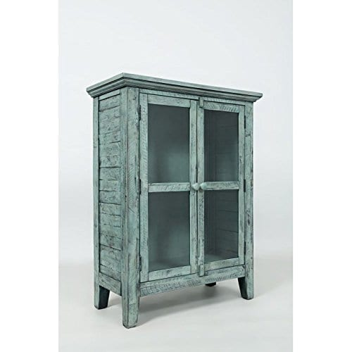 Jofran 1615 32 Rustic Shores Accent Cabinet 32W X 15D X 42H Vintage Blue Finish Set Of 1 0