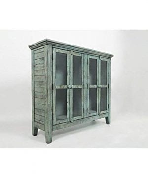 Jofran 1615 48 Rustic Shores Accent Cabinet 48W X 15D X 42H Vintage Blue Finish Set Of 1 0 0 300x360