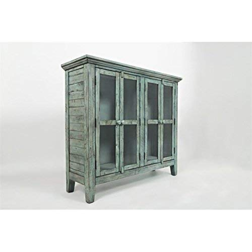 Jofran 1615 48 Rustic Shores Accent Cabinet 48W X 15D X 42H Vintage Blue Finish Set Of 1 0 0