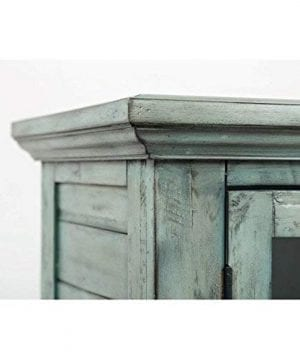 Jofran 1615 48 Rustic Shores Accent Cabinet 48W X 15D X 42H Vintage Blue Finish Set Of 1 0 2 300x360
