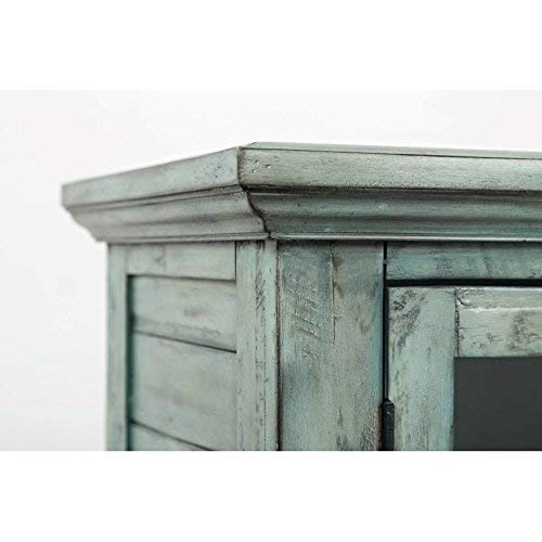 Jofran 1615 48 Rustic Shores Accent Cabinet 48W X 15D X 42H Vintage Blue Finish Set Of 1 0 2