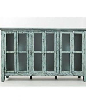 Jofran 1615 70 Rustic Shores Accent Cabinet 70W X 15D X 42H Vintage Blue Finish Set Of 1 0 0 300x360