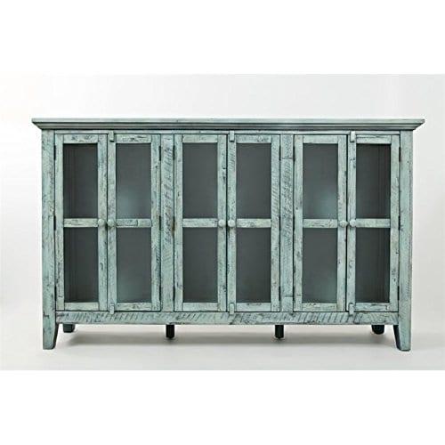 Jofran 1615 70 Rustic Shores Accent Cabinet 70W X 15D X 42H Vintage Blue Finish Set Of 1 0 0