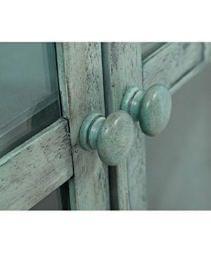 Jofran 1615 70 Rustic Shores Accent Cabinet 70W X 15D X 42H Vintage Blue Finish Set Of 1 0 3 300x360