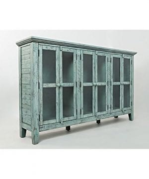 Jofran 1615 70 Rustic Shores Accent Cabinet 70W X 15D X 42H Vintage Blue Finish Set Of 1 0 300x360