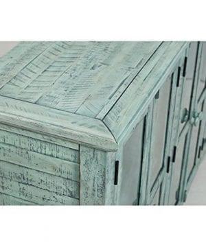 Jofran 1615 70 Rustic Shores Accent Cabinet 70W X 15D X 42H Vintage Blue Finish Set Of 1 0 4 300x360