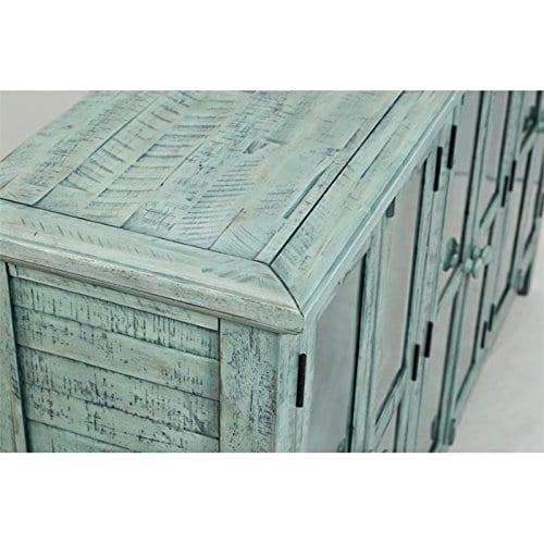 Jofran 1615 70 Rustic Shores Accent Cabinet 70W X 15D X 42H Vintage Blue Finish Set Of 1 0 4
