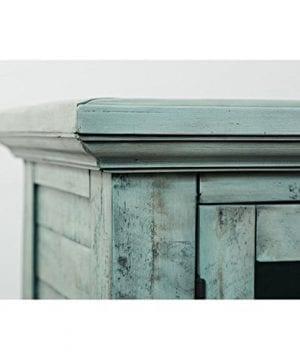 Jofran 1615 70 Rustic Shores Accent Cabinet 70W X 15D X 42H Vintage Blue Finish Set Of 1 0 5 300x360