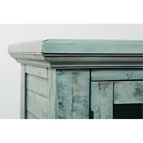 Jofran 1615 70 Rustic Shores Accent Cabinet 70W X 15D X 42H Vintage Blue Finish Set Of 1 0 5