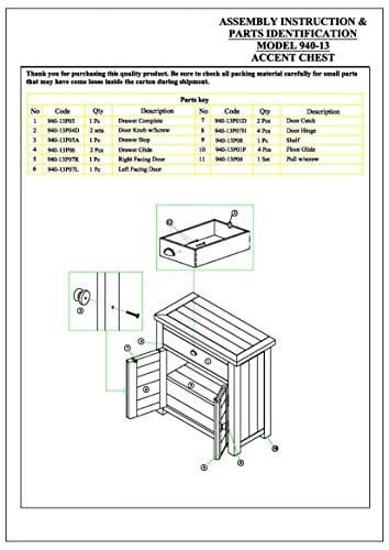 Jofran 940 13 Slater Mill Cabinet 32W X 15D X 32H Medium Brown Pine Finish Set Of 1 0 0