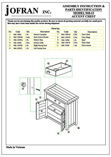 Jofran 940 13 Slater Mill Cabinet 32W X 15D X 32H Medium Brown Pine Finish Set Of 1 0 1