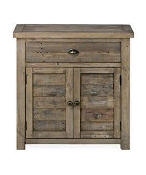 Jofran 940 13 Slater Mill Cabinet 32W X 15D X 32H Medium Brown Pine Finish Set Of 1 0 2 300x360