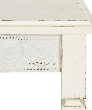 Kate And Laurel Idabelle Wood Side Table With Drawer Farmhouse White 0 2 300x360